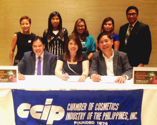 From left to right, bottom to top: Mr. Emilio Virtudes (Executive Vice President Internal Affairs, CCIP); Ms. Jing Lagandaon (Chief Operating Officer, GLMP); Mr. Siliman Sy (President, CCIP); Ms. Monina Leslie Ferrer (Vice President for Programs, CCIP); Ms. Katrina Lagandaon (Business Development Officer, GLMP); Ms. Jara Lauzon (Project Manager, GLMP); Ms. Karen Pareja (Project Executive Officer; GLMP); and, Mr. Rolando C. Lagman, Jr. (Vice President for Government and Industry Affairs Committee).